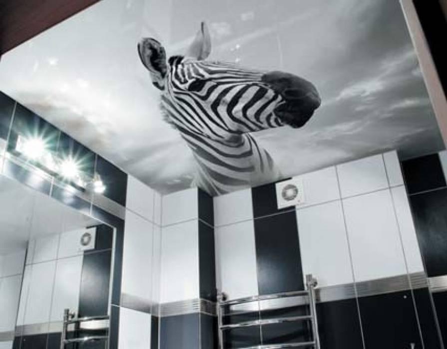 Печать зебра на натяжном потолке