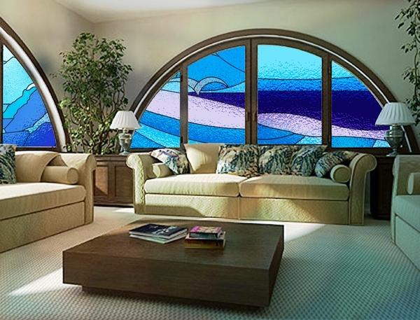 Витражные окна в интерьере