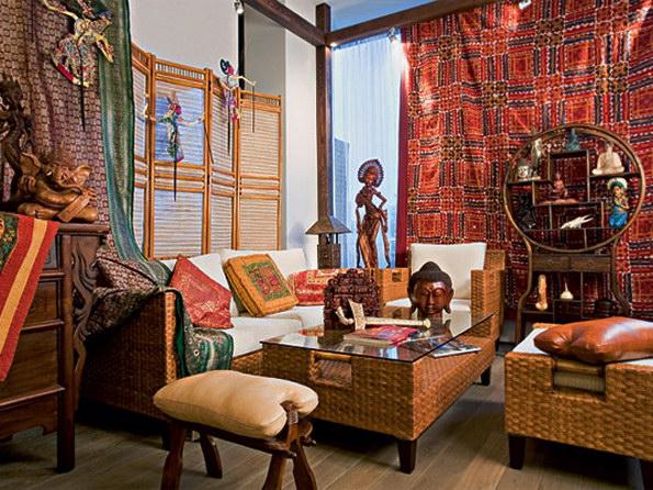 гостиная в индиском стиле